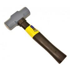1.35Kg Normalised Masons Club Hammer C/W 250mm Fibreglass Rubber Grip Handle