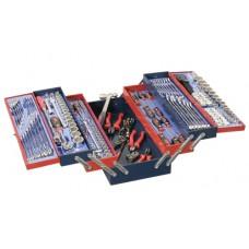 Genius 190 Piece 1/4', 3/8' & 1/2' Metric SAE Mechanic Tool Set
