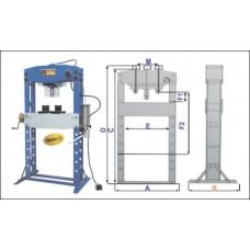 50 Ton Air Hydraulic Shop Press
